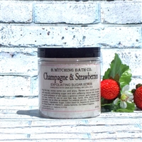 Champagne & Strawberry Exfoliating Sugar Scrub