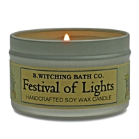 Festival Of Lights Tin Candle