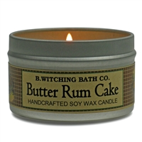 Butter Rum Cake Tin Candle