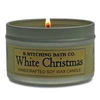 White Christmas Tin Candle