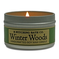 Winter Woods Tin Candle