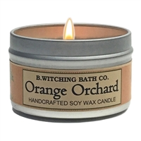 Orange Orchard Tin Candle